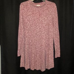 Red heathered long sleeve dress sz L